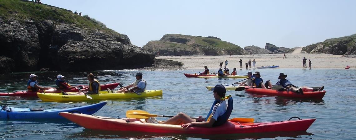 Sortie kayak aux Poulains